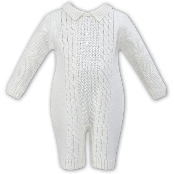 1c4a5412960 Weekend à la Mer Baby Boys Navy Boat Romper with Hat. £19.00 £29.00. 1  review. Sarah Louise Ivory Cable Knit Romper