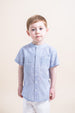 Sarah Louise Blue Collarless Shirt Boy