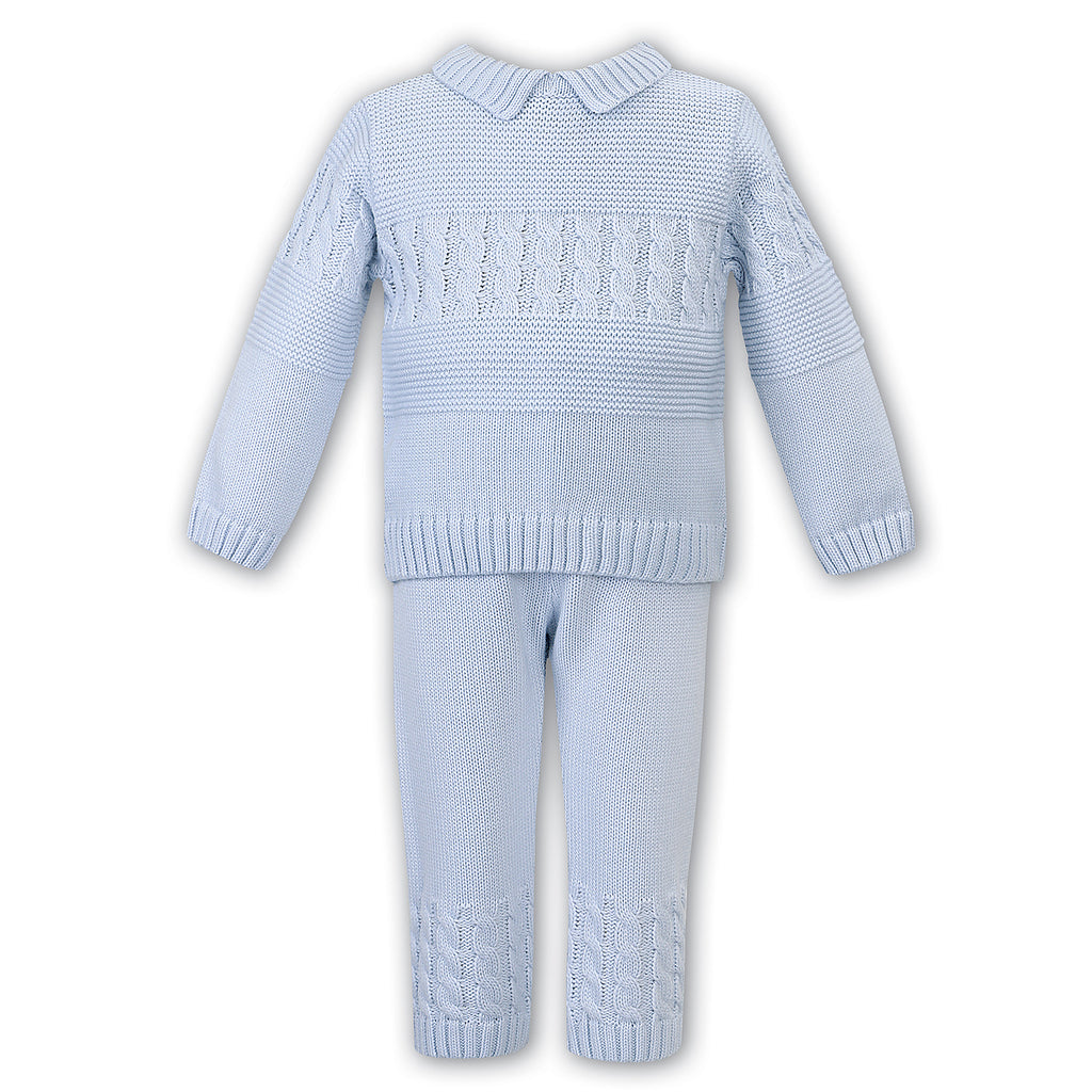 Sarah Louise Boys Blue Knitted Trouser Set