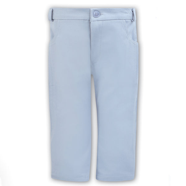 Sarah Louise Boys Grey Cotton Trousers