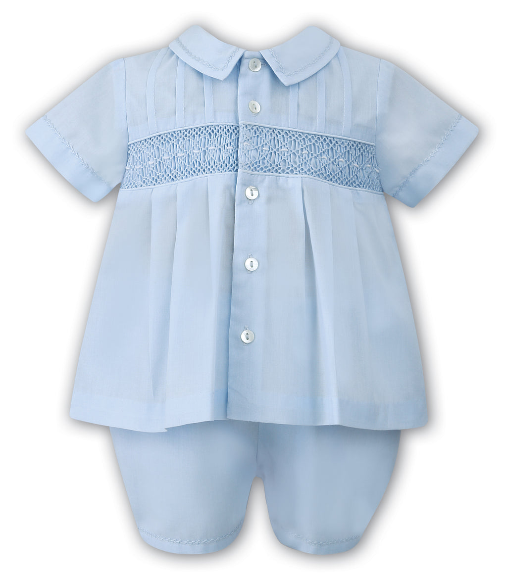 Sarah Louise Boys Blue Two Piece Outfit