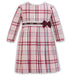 Sarah Louise Girls Pink Check Dress