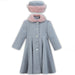 Sarah Louise Grey & Pink Fur Trimmed Coat & Hat