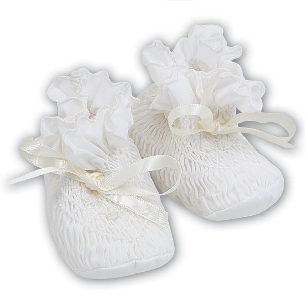 Sarah Louise Baby Girl Ivory Booties