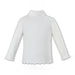 Sarah Louise Ivory Polo Neck Top