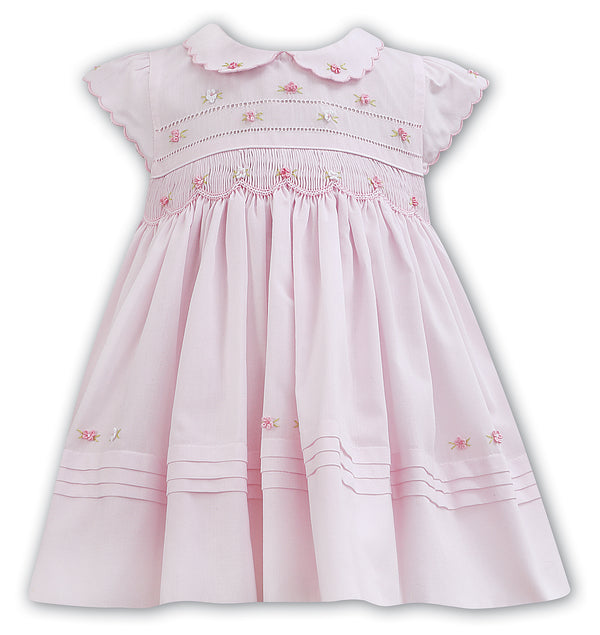 Sarah Louise Pink Collared Dress
