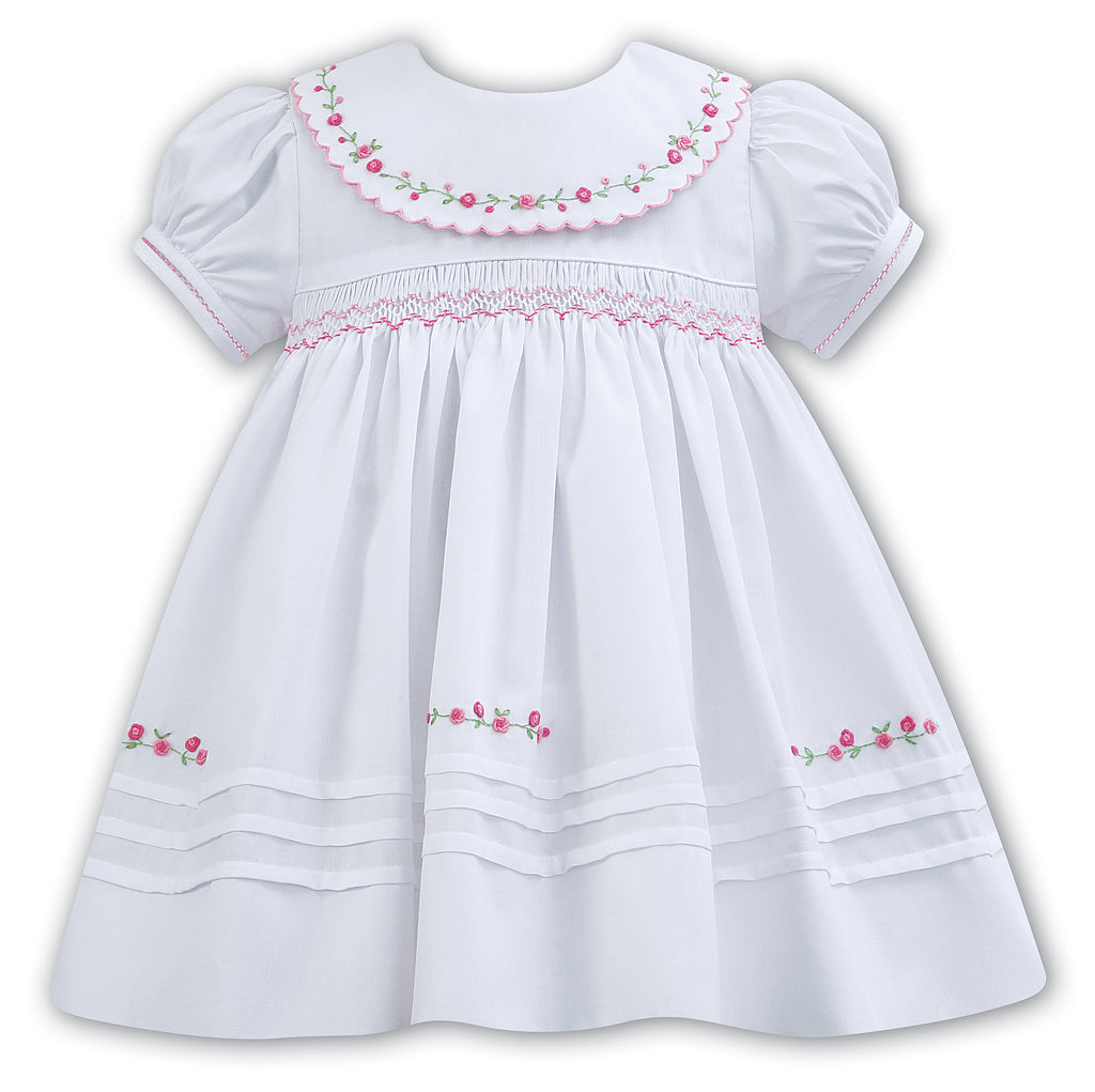 Sarah Louise White Hand Embroidered Dress