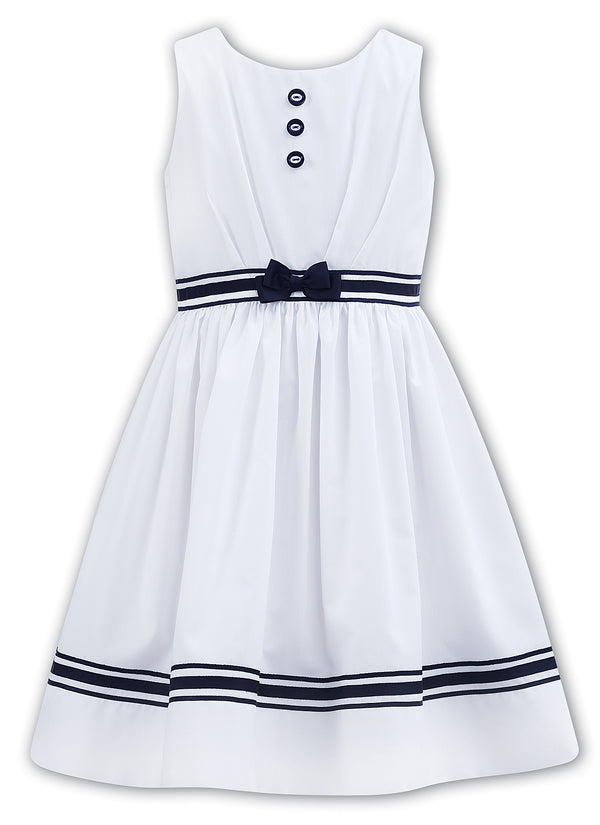 Sarah Louise White & Navy Sleeveless Dress