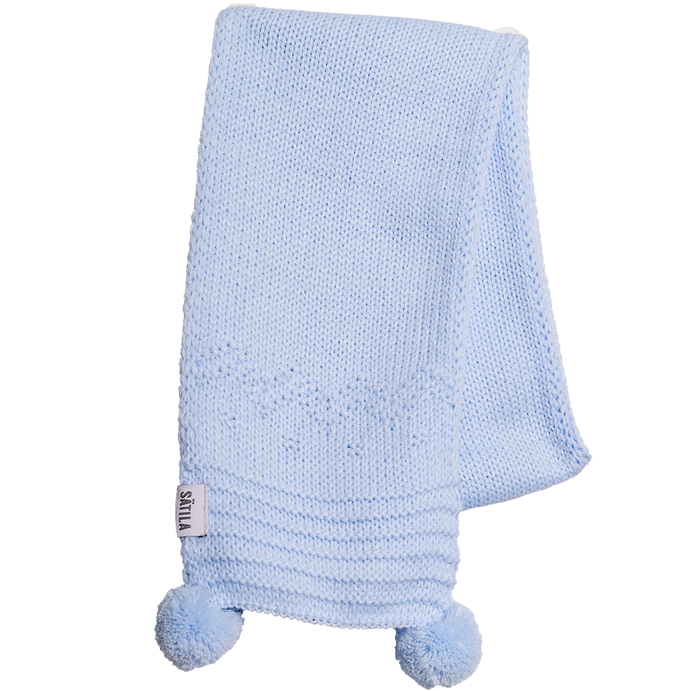Sätila of Sweden Belle Blue Pom Pom Scarf