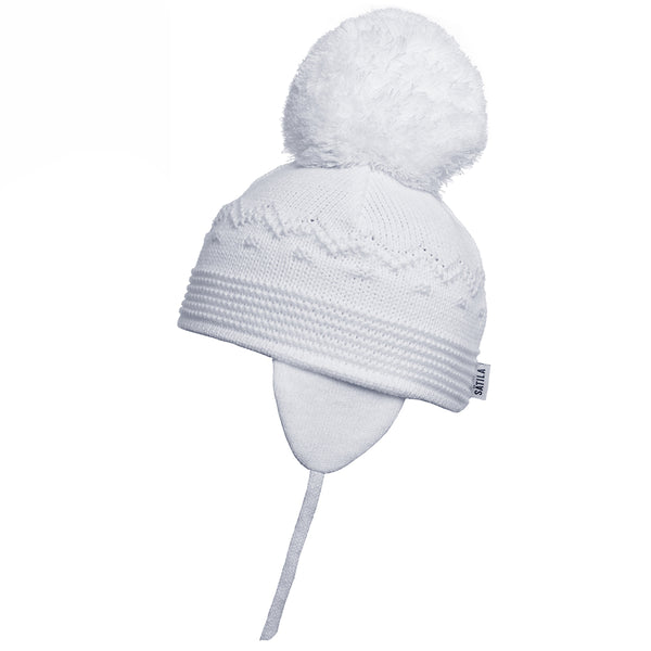 Sätila of Sweden Belle White Big Pom Hat