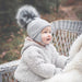 Sätila of Sweden Daisy Grey Big Pom Hat