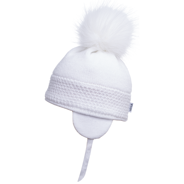 Sätila of Sweden Daisy White Big Pom Hat