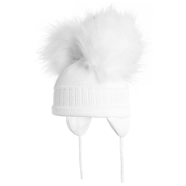 Sätila of Sweden Tindra White Double Pom Hat