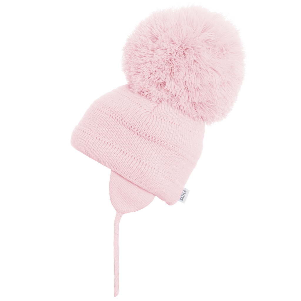 Sätila of Sweden Tuva Pink Big Pom Hat