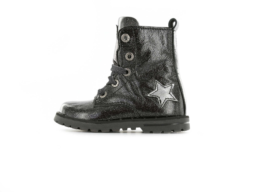 Shoesme Girls Black Glitter Boots