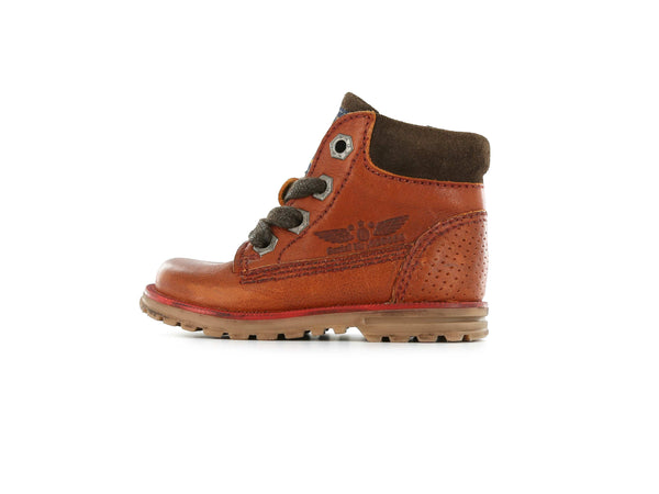 Shoesme Boys Brown Leather Pilot Boots