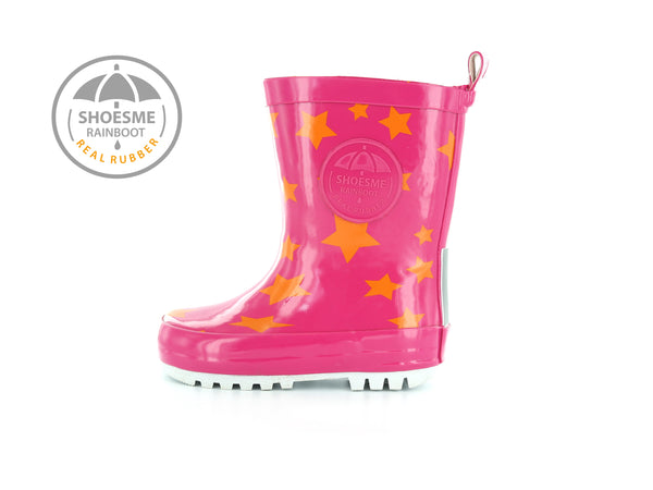 Shoesme Pink Star Rainboots
