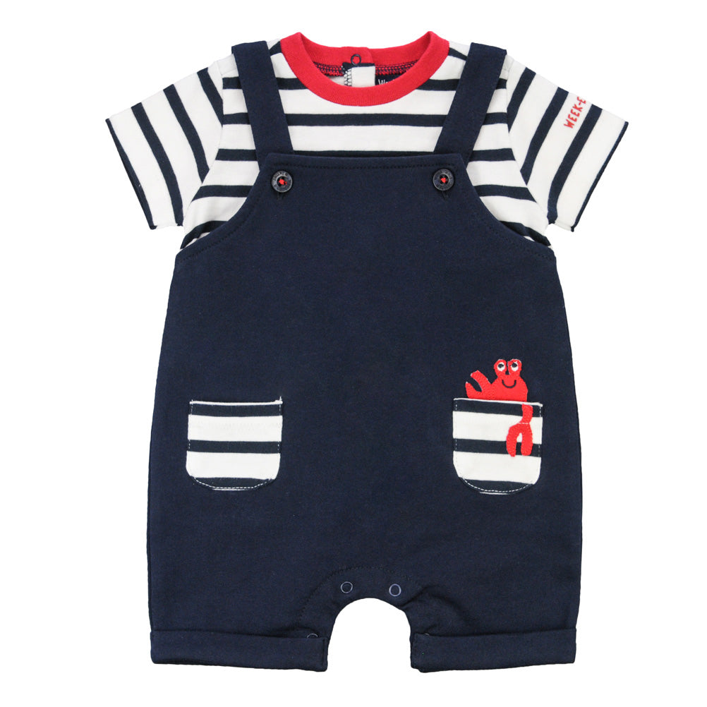 Weekend à la Mer Baby Boys Navy Shortie