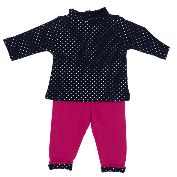 Weekend à la Mer Baby Girls Top & Trouser Set