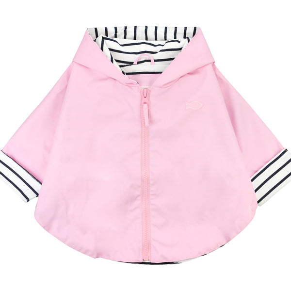 Weekend à la Mer Baby Pink Cotton Lined Rain Cape