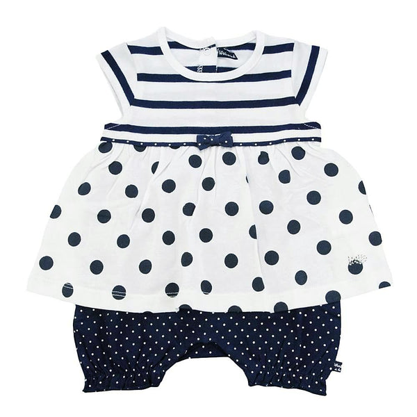 Weekend à la Mer Baby Girls White & Navy Shortie