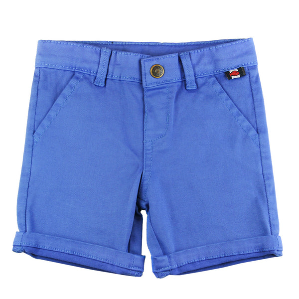 Weekend à la Mer Blue Cotton Shorts