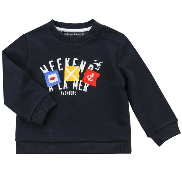 Weekend à la Mer Navy Sweater