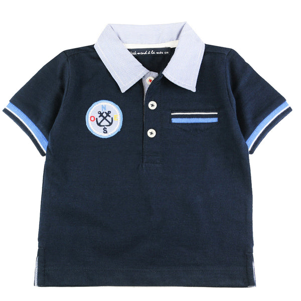 Weekend à la Mer Boys Navy Polo Shirt
