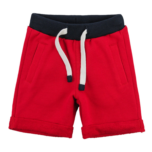 Weekend à la Mer Red Cotton Shorts