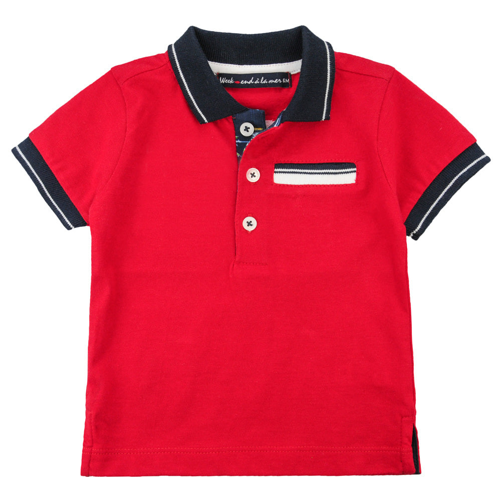 Weekend à la Mer Boys Red Polo Shirt