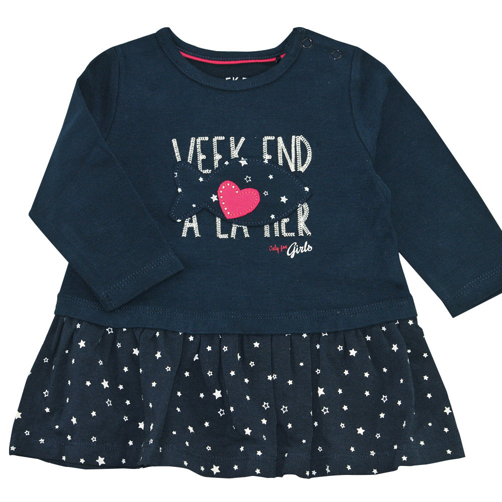 Weekend à la Mer Girls Navy Star Dress