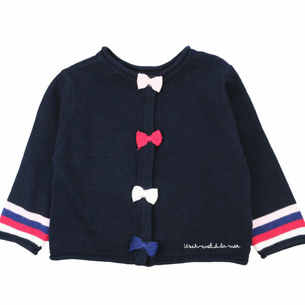 Weekend à la Mer Girls Navy Cardigan