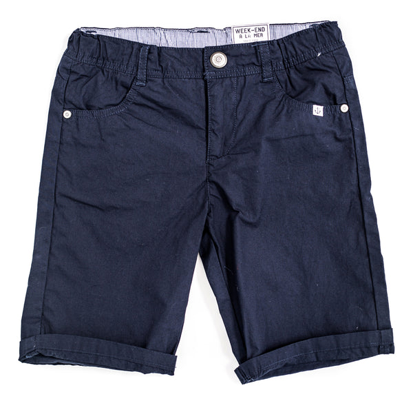 Weekend à la Mer Navy Cotton Shorts