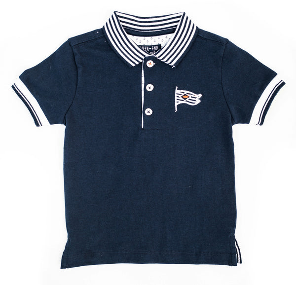 Weekend à la Mer Navy Polo Shirt