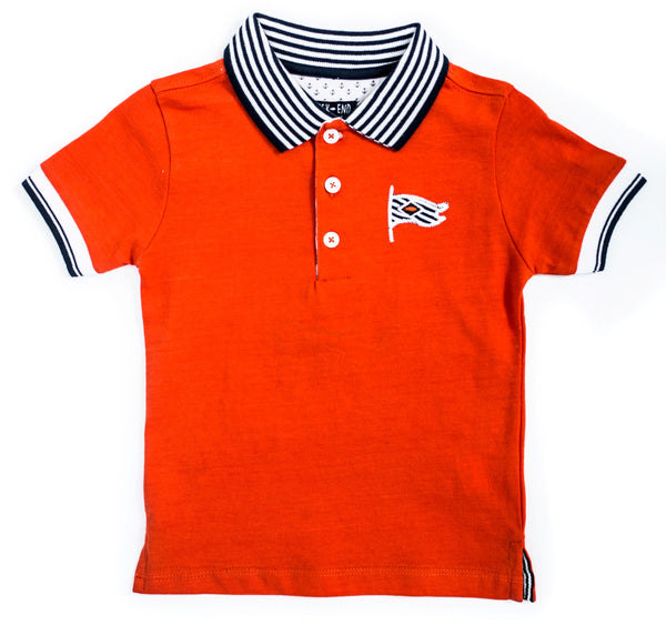 Weekend à la Mer Orange Polo Shirt