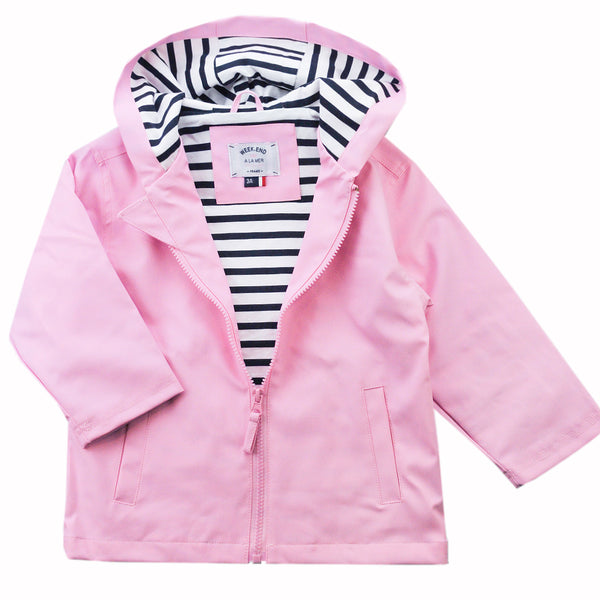 Weekend à la Mer Pink Cotton Lined Raincoat