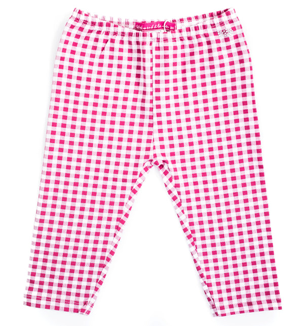 Weekend à la Mer Pink Gingham Leggings