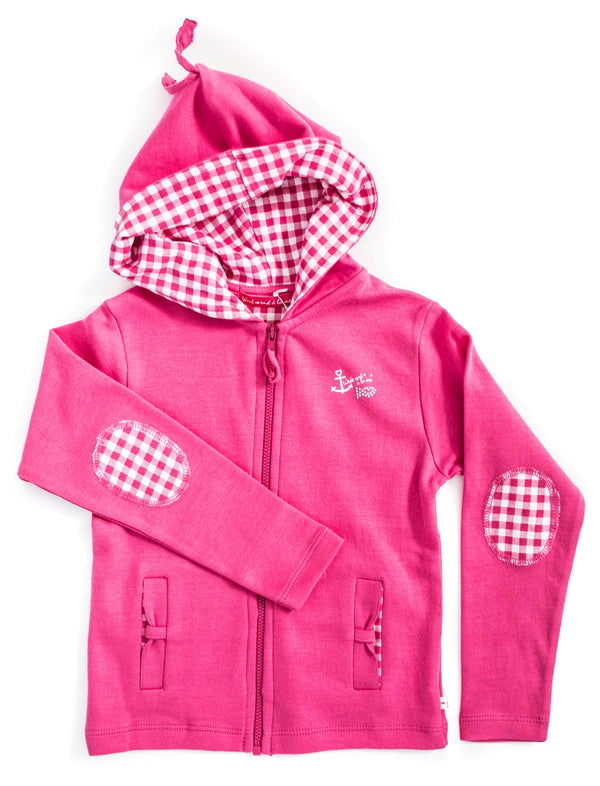 Weekend à la Mer Pink Zip-Up Top Hoodie
