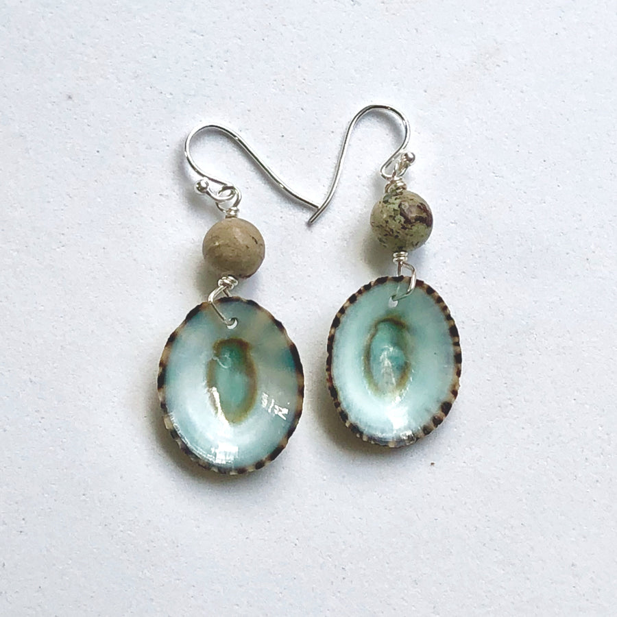 Limpet Shell Earrings and Necklace