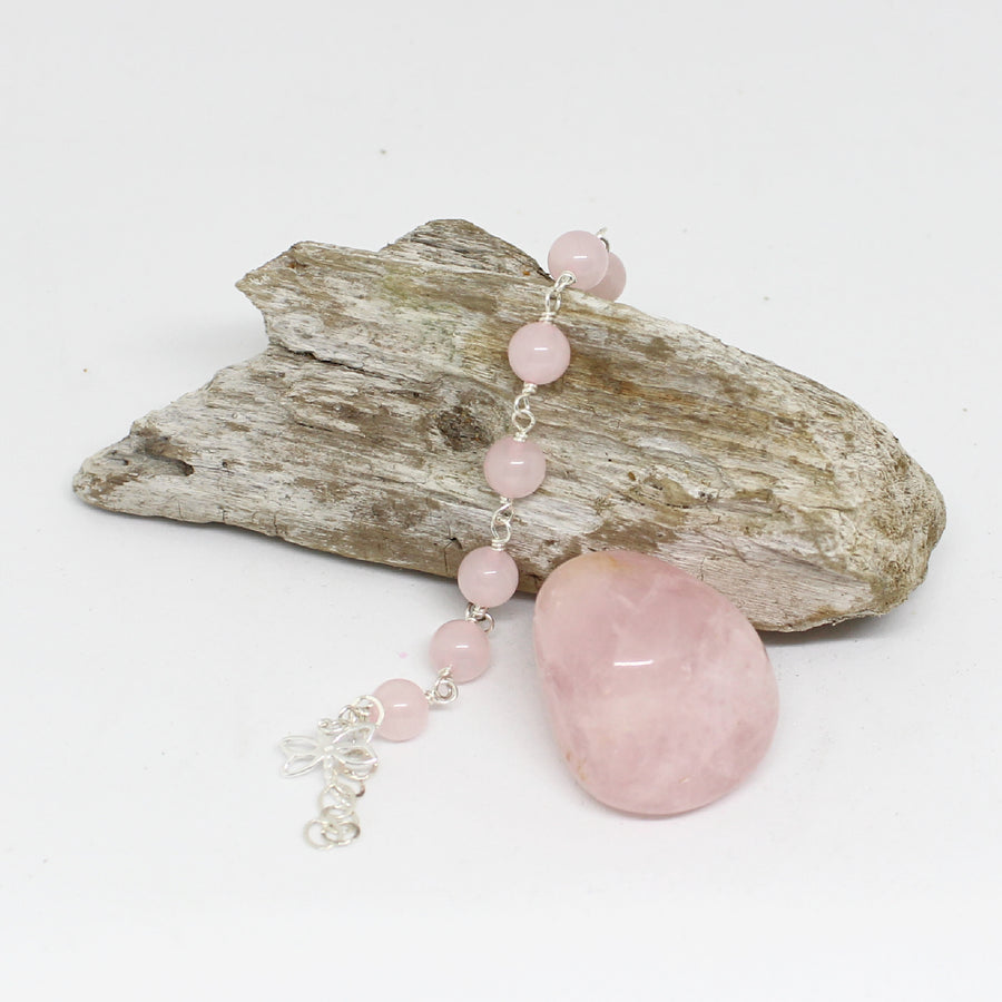 Rose Quartz Bracelet - I Open My Heart to Unconditional Love