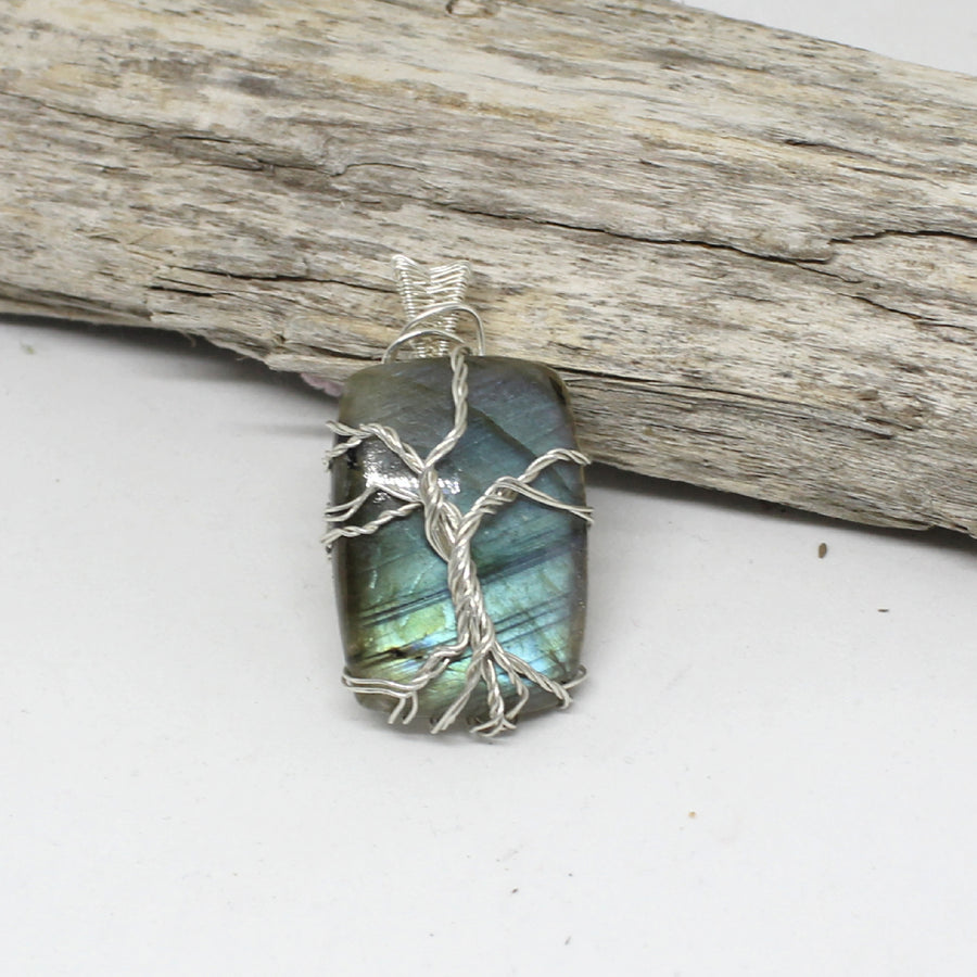 Tree of Life Pendants on Labradorite