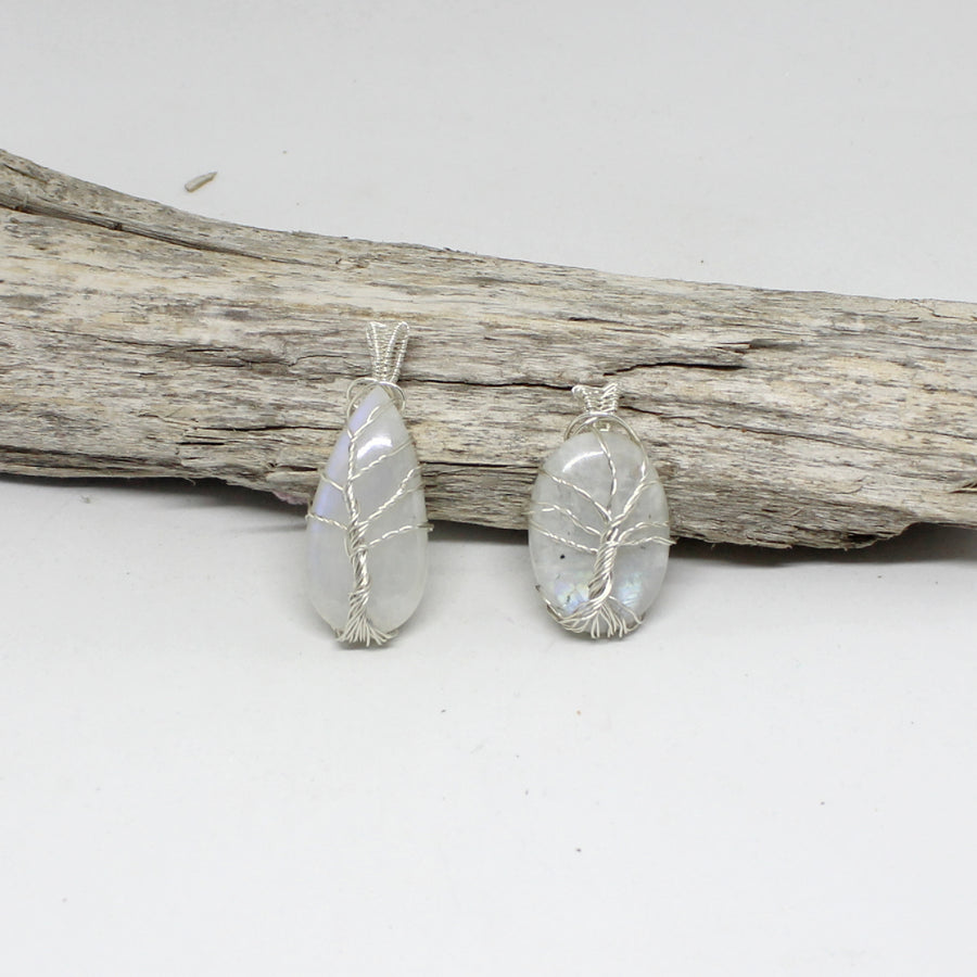 moonstone tree of life pendant