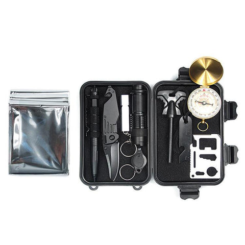 10 in 1 EDC Survival Kit Case SOS