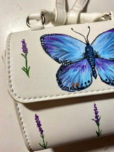 Load image into Gallery viewer, Hand Painted Butterfly Crossbody Bag