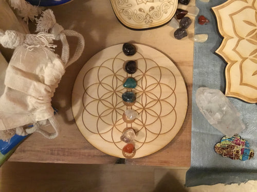 Crystal Grid - Wooden Templates - Majestic Hudson Lifestyle Experiences