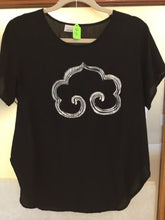 Load image into Gallery viewer, Hand Printed Buddhist Cloud (Black/White/Short sleeve) - Majestic Hudson Lifestyle Experiences