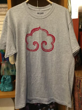 Hand Printed Buddhist Cloud (Grey/Red/Short sleeve)