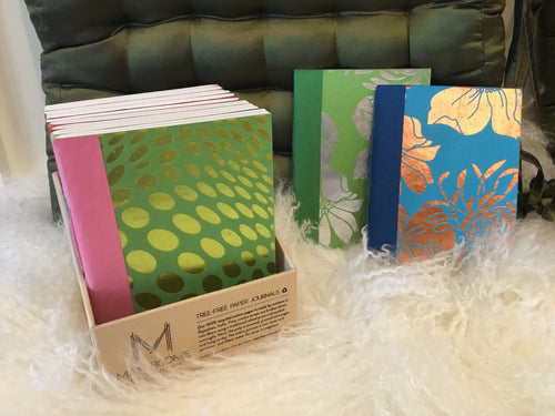 Tree-free Journals - Metallic Silk Screen - Majestic Hudson Lifestyle Experiences