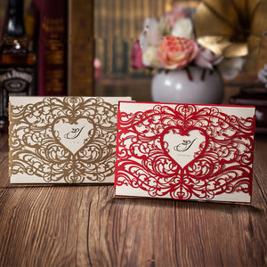 Laser Cut Wedding Invitation Card Set