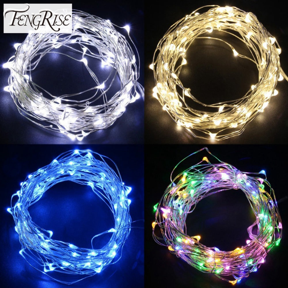 2-5m LED Copper Wire Romantic String Light Decoration, AA Battery Operated